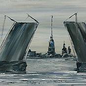 Картины и панно ручной работы. Ярмарка Мастеров - ручная работа Питерские мосты. Handmade.