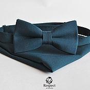 Аксессуары handmade. Livemaster - original item Tie dark green Dive men`s pocket square. Handmade.
