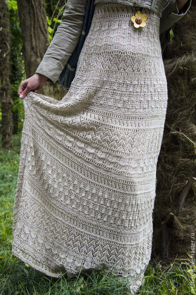 Вязанье крючком лен