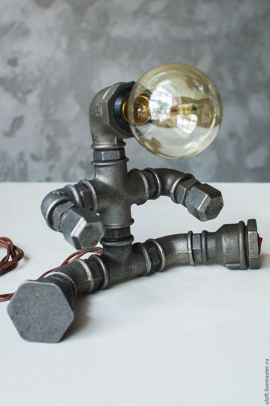"""Освещение ручной работы. Ярмарка Мастеров - ручная работа. Купить Светильник в стиле LOFT """"Baby"""". Handmade. Темно-серый, чугун"""