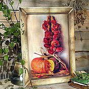 """Для дома и интерьера ручной работы. Ярмарка Мастеров - ручная работа Панно """"Овощной натюрморт"""". Handmade."""