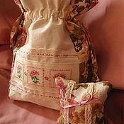 """Русский стиль ручной работы. Ярмарка Мастеров - ручная работа Комплект """"Розовый Сад"""". Handmade."""