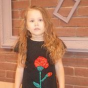 Работы для детей, ручной работы. Ярмарка Мастеров - ручная работа жаккардовое платье с розой. Handmade.