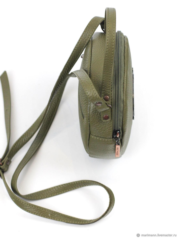 49e18870833d Интернет- Женские сумки ручной работы. Заказать Круглая сумочка с жирафами.  Marimann кожаные сумки.