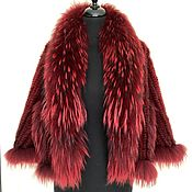 Одежда handmade. Livemaster - original item Mink Bolero with cherry raccoon trim