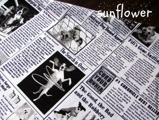 Шитье ручной работы. Ярмарка Мастеров - ручная работа. Купить Хлопок для пэчворка.. Handmade. Чёрно-белый, газета, ткань для шитья