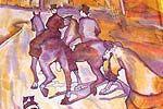 Шарф по картине Дега, батик, ручная роспись, натуральный шелк