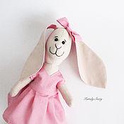 Куклы и игрушки ручной работы. Ярмарка Мастеров - ручная работа Зайка в платье, текстильная игрушка.. Handmade.