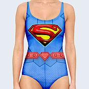 """Одежда ручной работы. Ярмарка Мастеров - ручная работа Купальник """"Супермен"""". Handmade."""