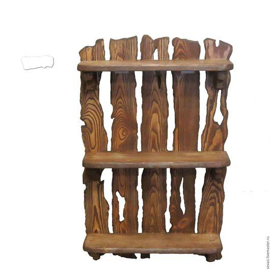 Мебель ручной работы. Ярмарка Мастеров - ручная работа. Купить Полка из состаренного массива сосны. Handmade. Коричневый, состаренная сосна