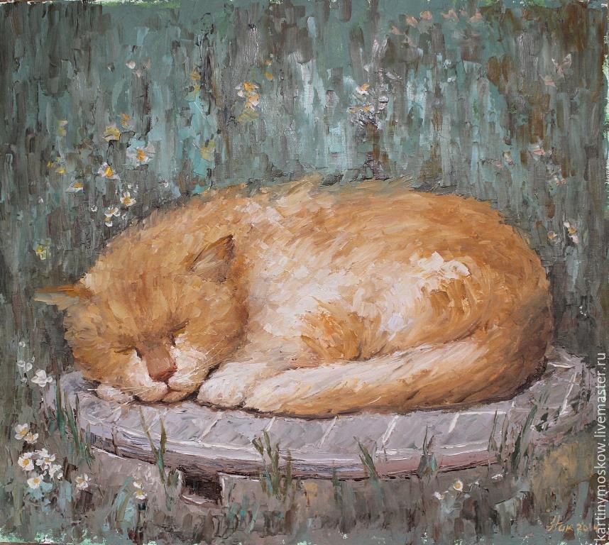 Картина маслом котов