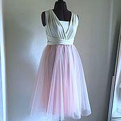 16028b8c23b476a Пышное персиковое платье с 3D кружевом Peach flower – купить в ...