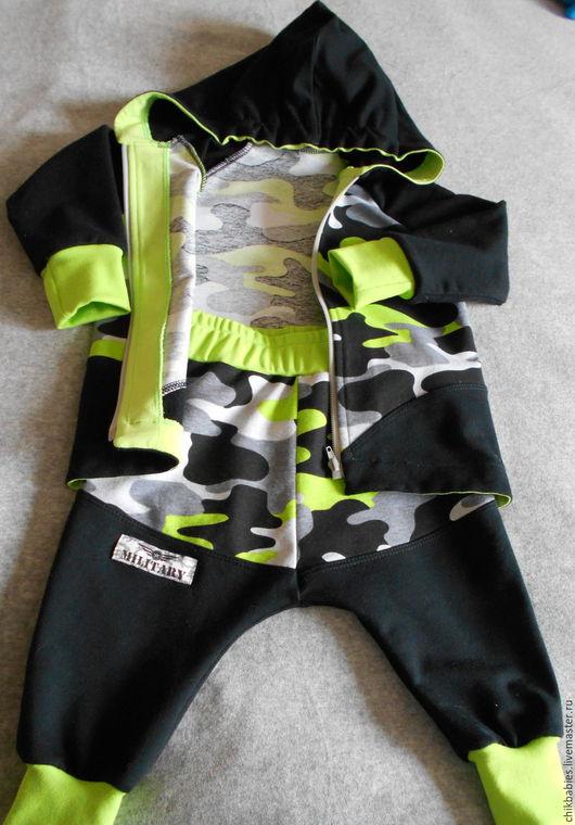 Одежда для мальчиков, ручной работы. Ярмарка Мастеров - ручная работа. Купить Камуфляжный костюм. Handmade. Комбинированный, одежда для мальчика