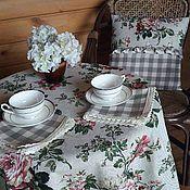 Для дома и интерьера handmade. Livemaster - original item Linen tablecloth napkins linen Ash rose. Handmade.