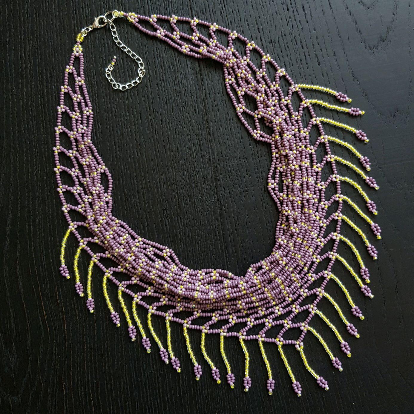 Necklace scarf bead 'Purple dawn' (Slavyanka), Necklace, Kireevsk,  Фото №1