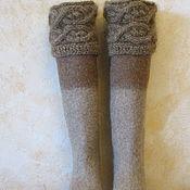 Обувь ручной работы. Ярмарка Мастеров - ручная работа Войлочные ботфорты Теплый сентябрь. Handmade.