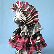 Куклы и игрушки ручной работы. Ярмарка Мастеров - ручная работа Панко Зебра - интерьерная игрушка. Handmade.