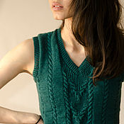 Одежда handmade. Livemaster - original item Knit waistcoat (cardigan)/crop top/cropped sweater/women`s vest. Handmade.
