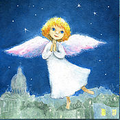 Картины и панно handmade. Livemaster - original item Angel flies Print reproduction. Handmade.