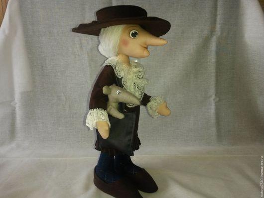 Коллекционные куклы ручной работы. Ярмарка Мастеров - ручная работа. Купить Кукла Старуха Шапокляк. Handmade. Коричневый, коллекционная кукла