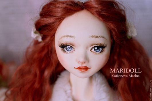 Коллекционные куклы ручной работы. Ярмарка Мастеров - ручная работа. Купить Ингрид интерьерная  подвижная кукла. Handmade. Подарок девушке