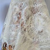 """Накидки ручной работы. Ярмарка Мастеров - ручная работа Валяный шарф-паутинка """" Naturelle echarpe blanche"""". Handmade."""