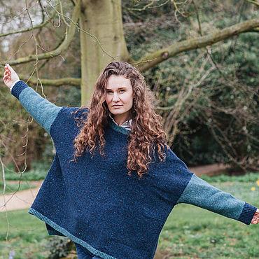 Одежда ручной работы. Ярмарка Мастеров - ручная работа Пуловеры: Современный пуловер из ирландского твида. Оверзайз.. Handmade.
