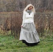 Одежда ручной работы. Ярмарка Мастеров - ручная работа Теплая шерстяная юбка. Handmade.