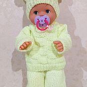 Одежда для кукол ручной работы. Ярмарка Мастеров - ручная работа Вязаный костюм для baby born. Handmade.