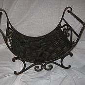 Для дома и интерьера ручной работы. Ярмарка Мастеров - ручная работа кованая дровница. Handmade.
