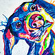 Dachshund color painting in pop art style, Pictures, Ekaterinburg,  Фото №1