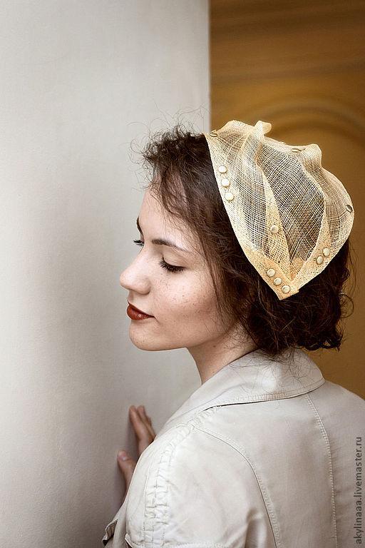 """Шляпы ручной работы. Ярмарка Мастеров - ручная работа. Купить Шляпка """"Желтая наколка"""". Handmade. Шляпка, шляпка женская, Синамей"""