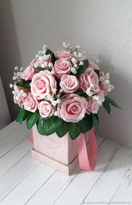 Мыло ручной работы. Ярмарка Мастеров - ручная работа. Купить Букет роз из мыла. Handmade. Оригинальный подарок, букет цветов