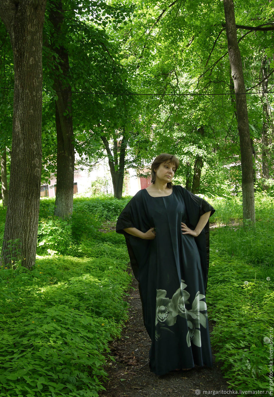 Платья ручной работы. Ярмарка Мастеров - ручная работа. Купить Черно-серое платье для отдыха. Handmade. Египет, свободное платье