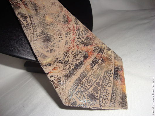 Галстуки, бабочки ручной работы. Ярмарка Мастеров - ручная работа. Купить Галстук из натуральной кожи Бразилия. Handmade. Натуральная кожа