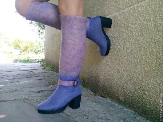 """Обувь ручной работы. Ярмарка Мастеров - ручная работа. Купить Сапожки-валенки  """" Прованс"""". Handmade. Сиреневый, светло-фиолетовый"""
