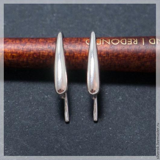 Для украшений ручной работы. Ярмарка Мастеров - ручная работа. Купить Швензы основа для серег с крючком серебряная  925 пробы. Handmade.