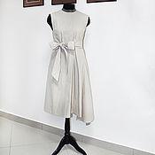 Одежда handmade. Livemaster - original item Asymmetric dress beige classic. Handmade.