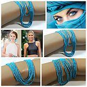 Материалы для творчества handmade. Livemaster - original item Turquoise 2 mm stabilized. thread. Handmade.