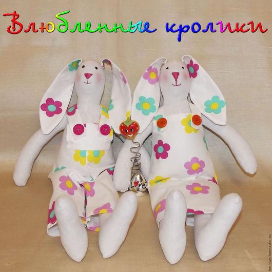 """Куклы Тильды ручной работы. Ярмарка Мастеров - ручная работа. Купить Тильда """"Влюбленные кролики"""", Тильда заяц. Зайцы.. Handmade."""