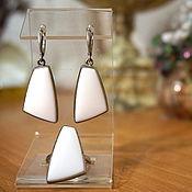 Украшения из Кахолонга, 3 вида белый серебро натуральный камень купит