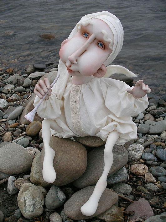 """Сказочные персонажи ручной работы. Ярмарка Мастеров - ручная работа. Купить кукла """"Ангел"""". Handmade. Текстильная кукла, белый"""