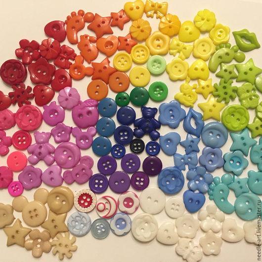 Куклы и игрушки ручной работы. Ярмарка Мастеров - ручная работа. Купить Пуговицы разноцветные разной формы. Handmade. Комбинированный