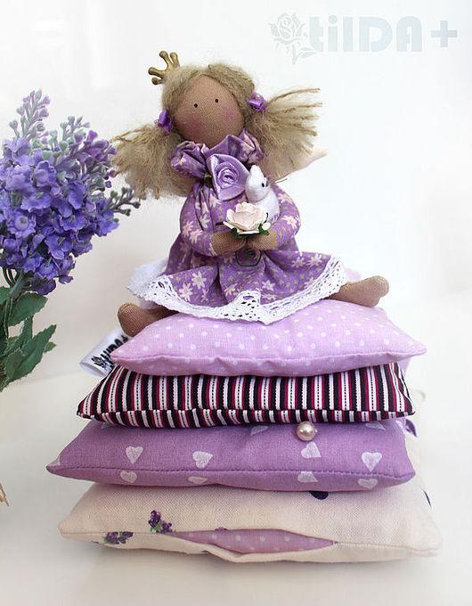 Куклы Тильды ручной работы. Ярмарка Мастеров - ручная работа. Купить Малышка в лавандовом (маленькая принцесса тильда). Handmade. Сиреневый