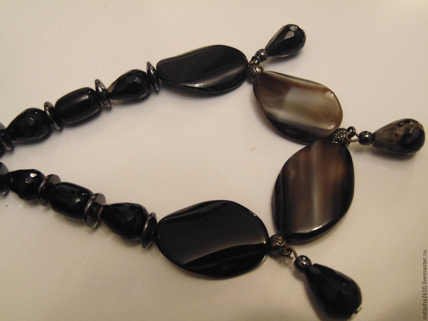 Necklace from natural agate, Necklace, Velikiy Novgorod,  Фото №1