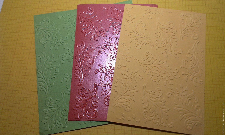 Открытки с тиснением на бумаге