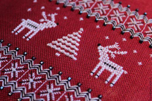 """Вышивка ручной работы. Ярмарка Мастеров - ручная работа. Купить Схема для вышивки """"Скандинавское рождество. Олени"""". Handmade. Вышивка"""