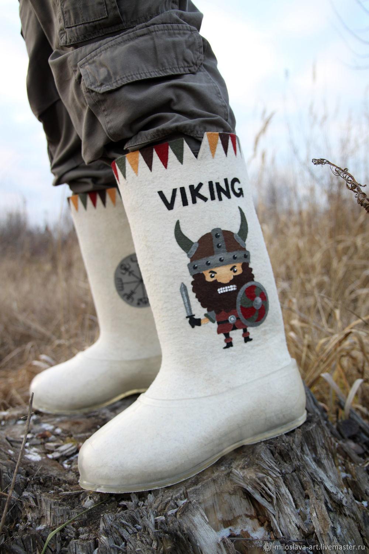 boots: ' Viking', Felt boots, Moscow,  Фото №1