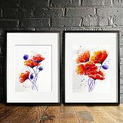 Картины и панно handmade. Livemaster - original item Maquis paintings in watercolour Two paintings. Handmade.