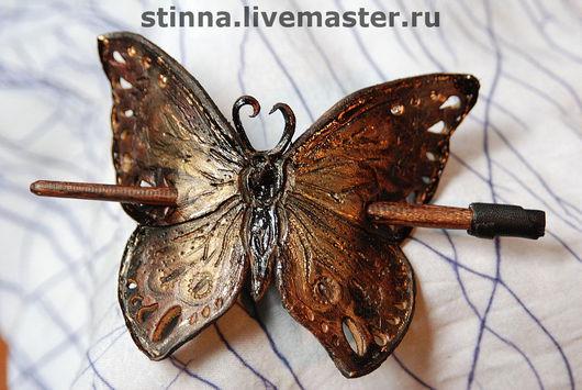 Barrettes handmade. Livemaster - handmade. Buy barrette 'Butterfly'.Hairpins, butterfly, handmade, gift, gift girl